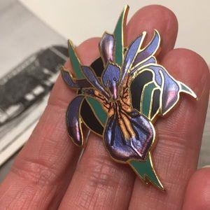 Vintage Iris Pin